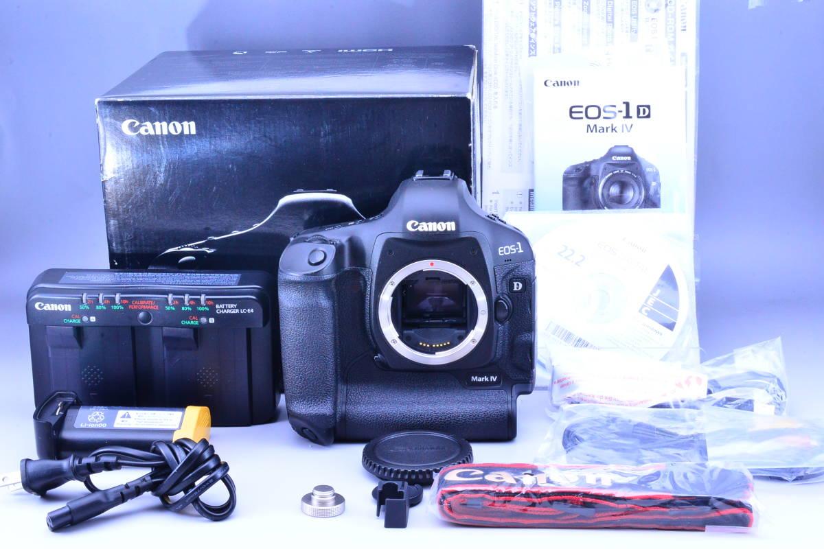 【女性ワンオーナー品】Canon キヤノン EOS-1D Mark IV マーク 4 ボディ 元箱・付属品★新品ストラップ付!