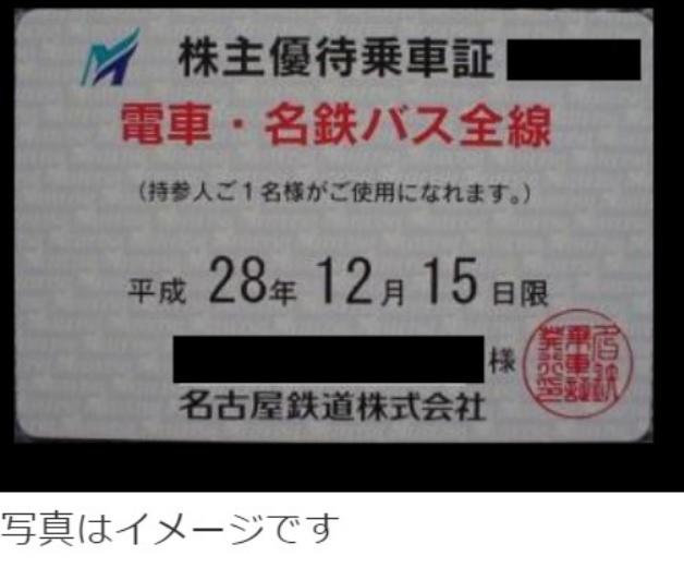 名古屋鉄道 電車・バス全線 株主優待乗車証 簡易書留送料込