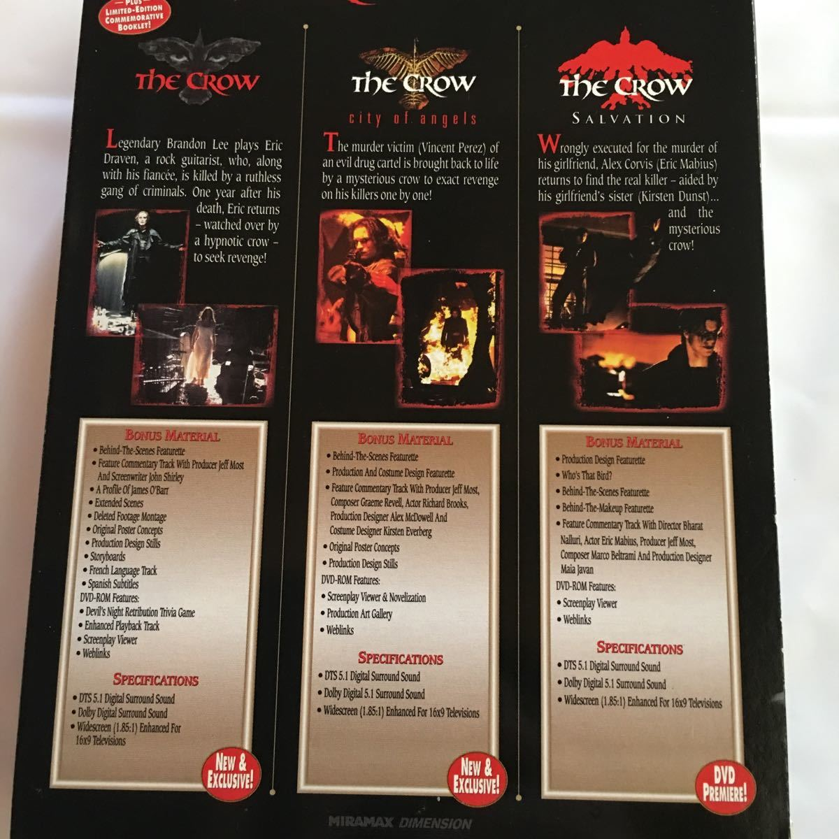 ②DVD ブランドン・リー The Crow (Collector's Series Boxed Set) US輸入盤 リージョン1対応 送料無料