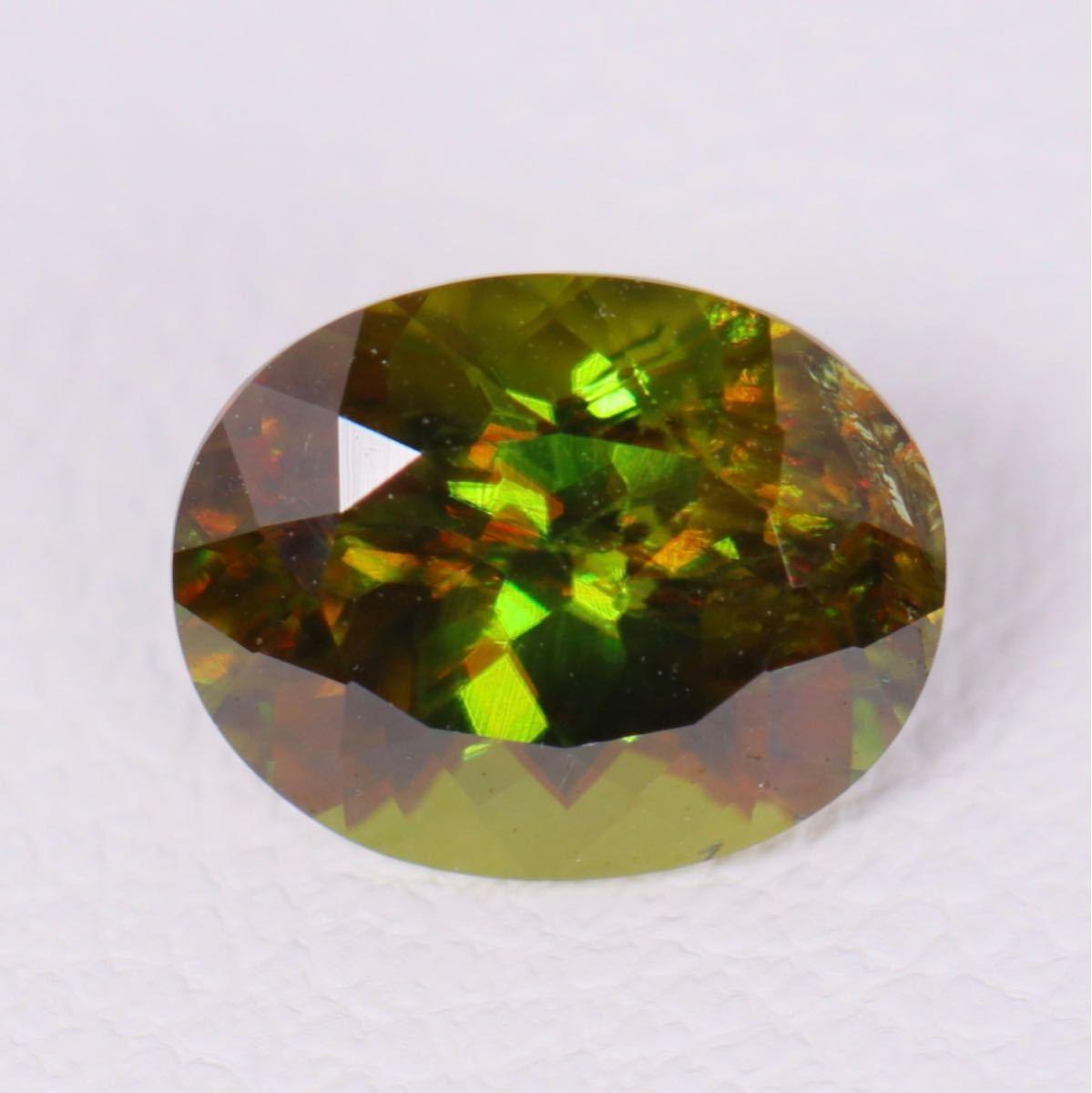 魅惑のマルチカラー『天然スフェーン』1.24ct アフガニスタン産 ルース 宝石 コレクター必見