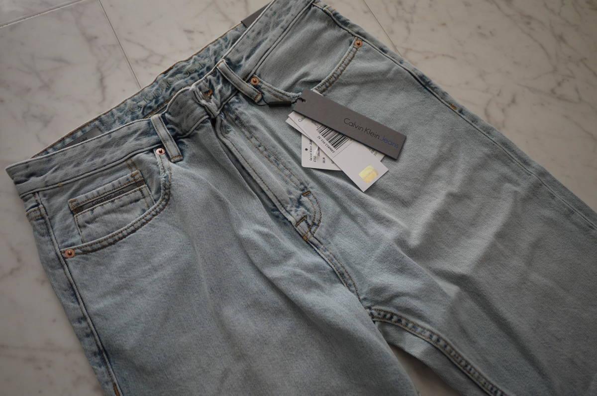 新品 未使用品 正規品 Calvin Klein Jeans カルバンクラインジーンズ ハイストレートデニムパンツ ライトインディゴ 32 定価27,864円(あ31)_画像2