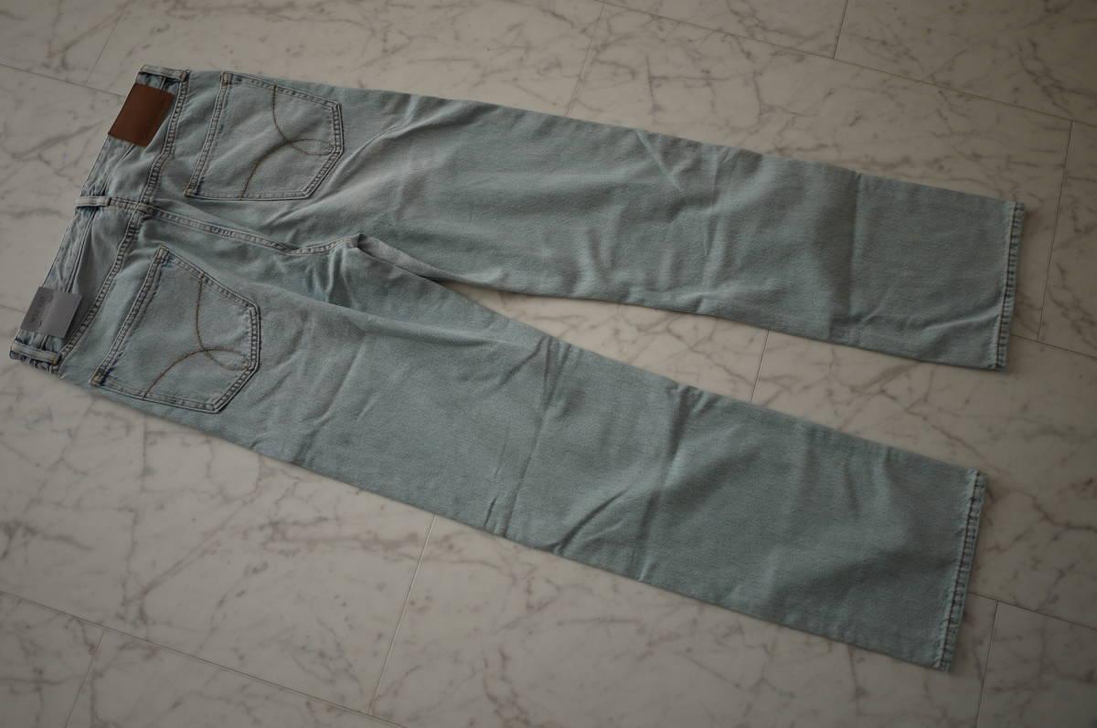 新品 未使用品 正規品 Calvin Klein Jeans カルバンクラインジーンズ ハイストレートデニムパンツ ライトインディゴ 32 定価27,864円(あ31)_画像5
