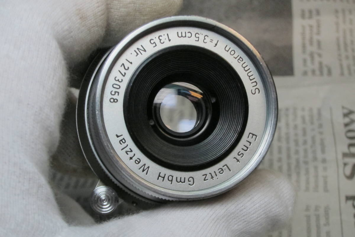 Summron f=3.5cm 1:3.5 Erest Leitz Gmbh Wetzlar Mマウント ライカ ズマロン 35mm 1:3.5_画像6
