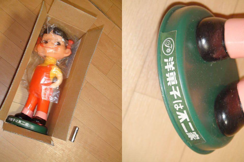 ノベルティ D187-1不二家 ペコちゃん店頭用 首振り人形1997年_画像2