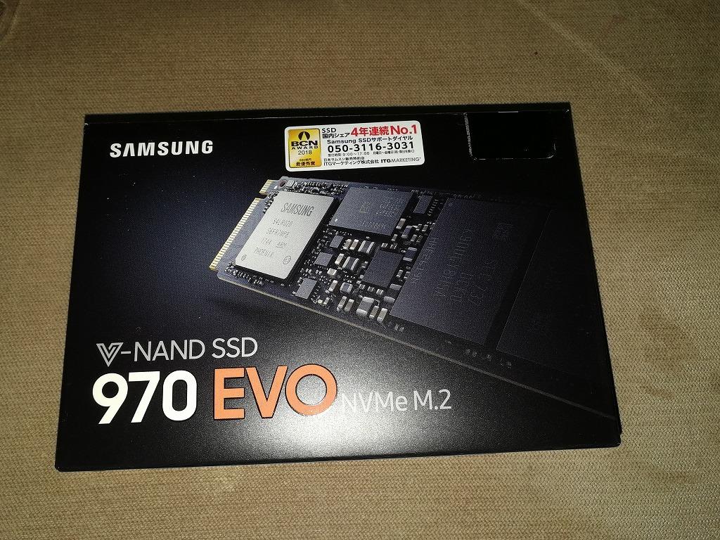 Samsung 970 EVO「MZ-V7E250B/IT」SSD PCIe M.2-2280 250GB ほぼ新品同等品