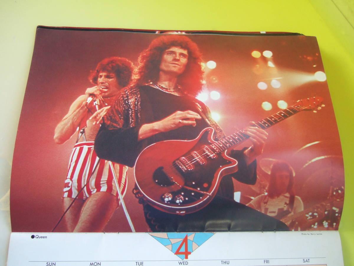 ロッキンf1978年12月臨時増刊1979年カレンダー 新品未使用品 ツェッペリン ジェフベック ロッド クイーン アルディメオラ クラプトン他_画像4