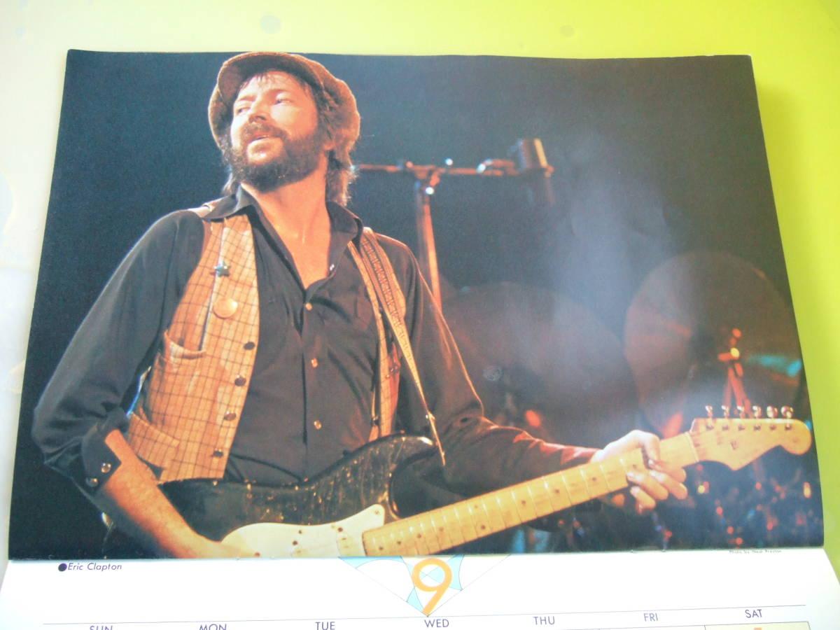 ロッキンf1978年12月臨時増刊1979年カレンダー 新品未使用品 ツェッペリン ジェフベック ロッド クイーン アルディメオラ クラプトン他_画像6