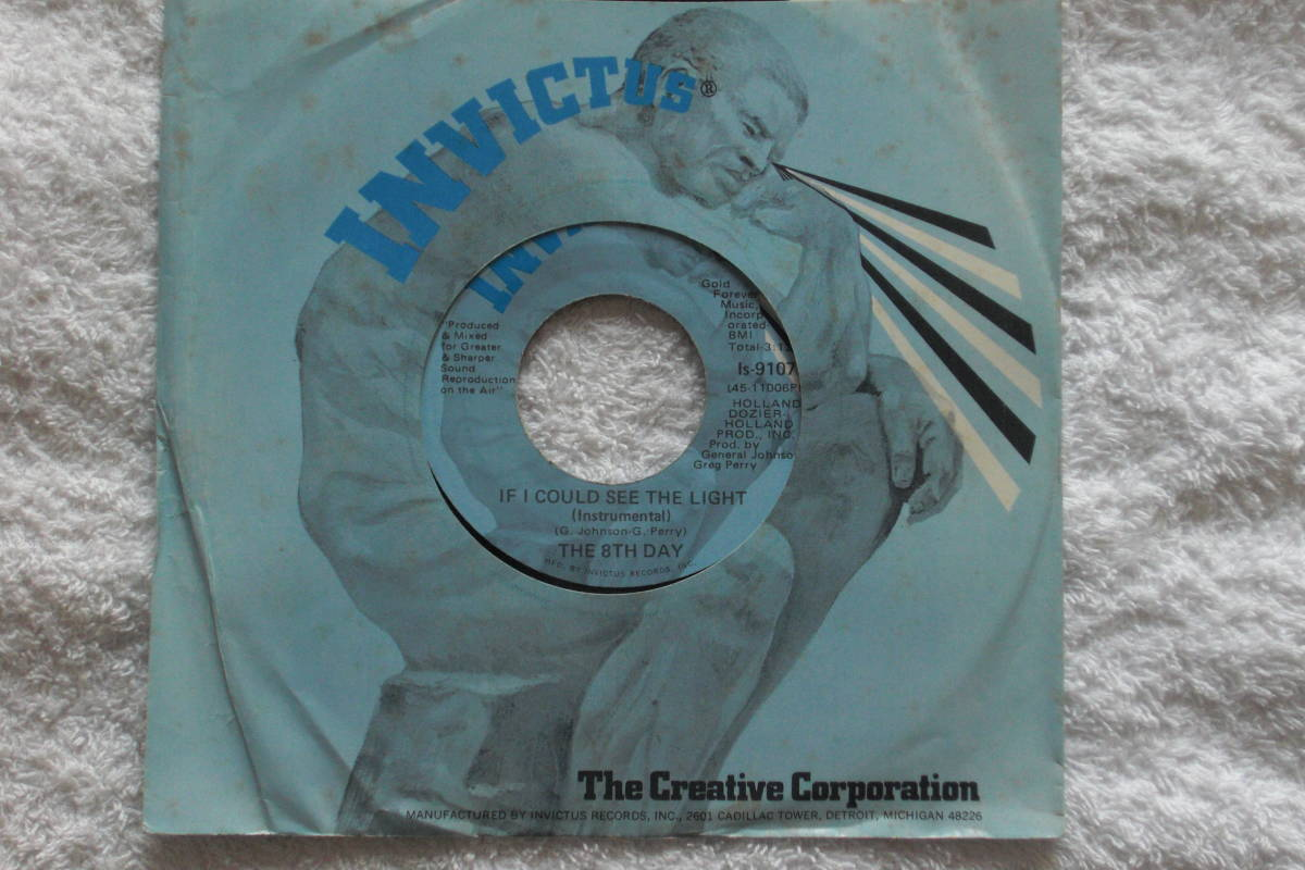 USシングル盤45' The 8th Day : If I Could See The Light / Same(Inst.) (Invictus Is 9107 ) Deep Soul_画像4