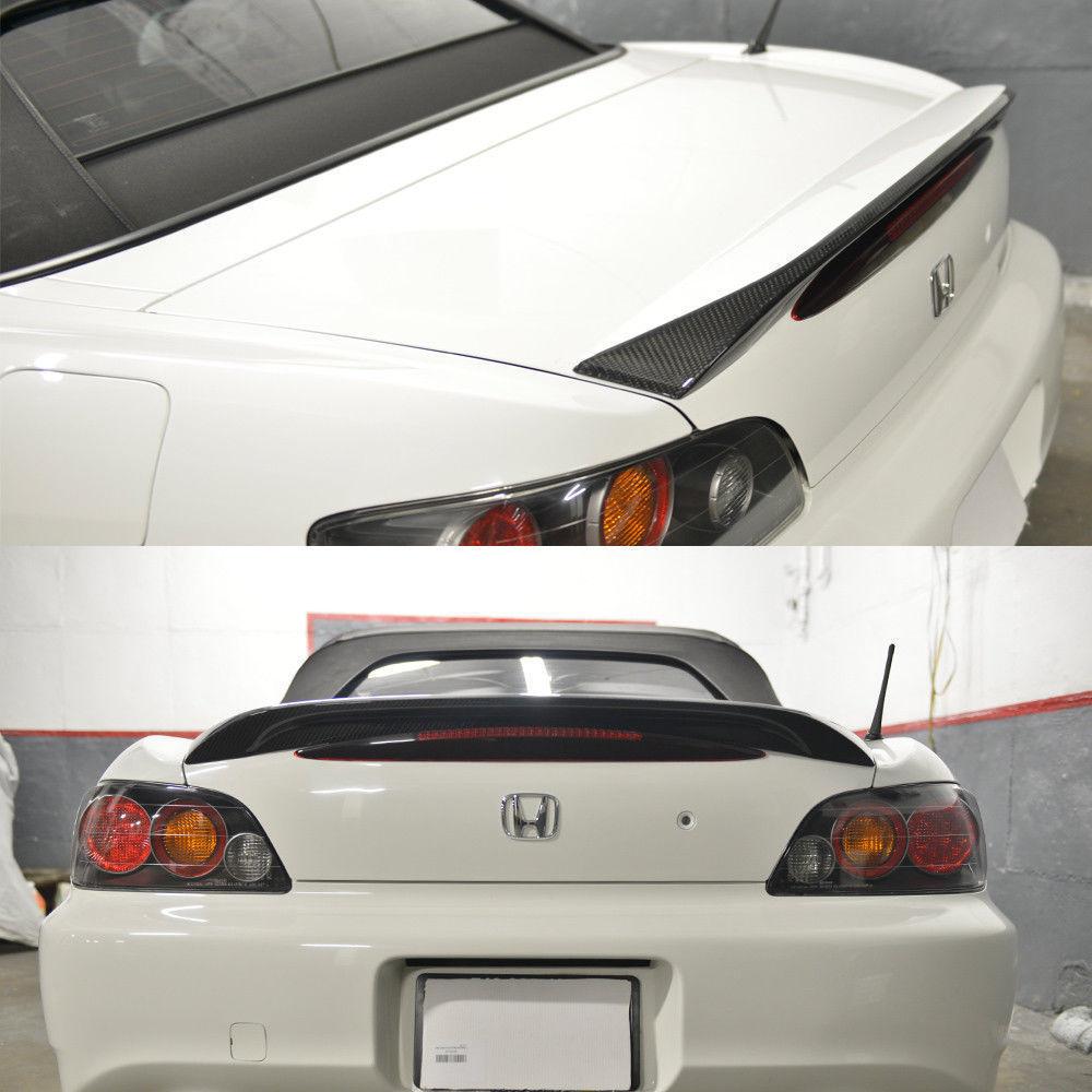 ホンダ S2000 AP1 AP2 2000-2009 リアルカーボン+純正塗装色 リアトランクスポイラー OE 純正色番:NH-578 タフタホワイト NH578_画像2
