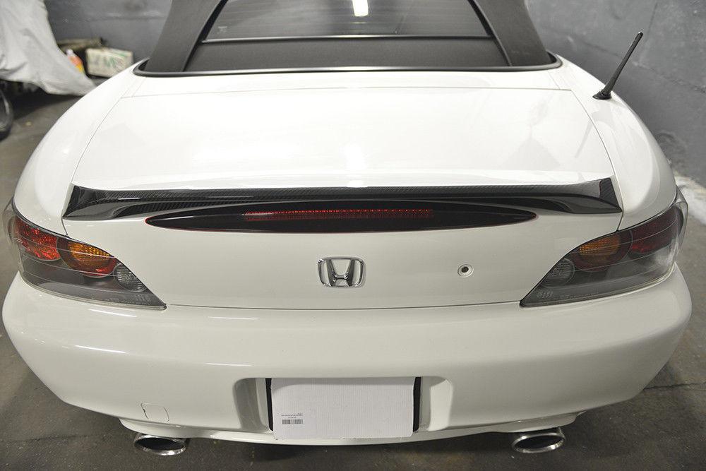 ホンダ S2000 AP1 AP2 2000-2009 リアルカーボン+純正塗装色 リアトランクスポイラー OE 純正色番:NH-578 タフタホワイト NH578_画像5