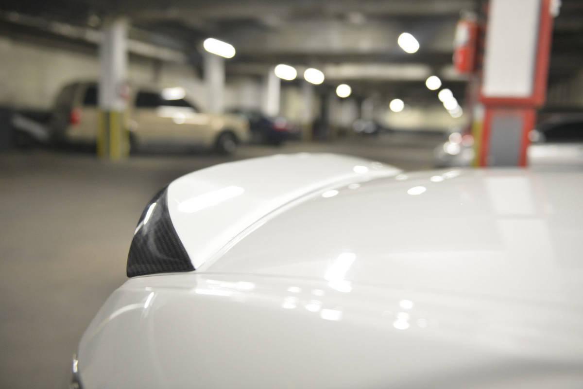 ホンダ S2000 AP1 AP2 2000-2009 リアルカーボン+純正塗装色 リアトランクスポイラー OE 純正色番:NH-578 タフタホワイト NH578_画像3