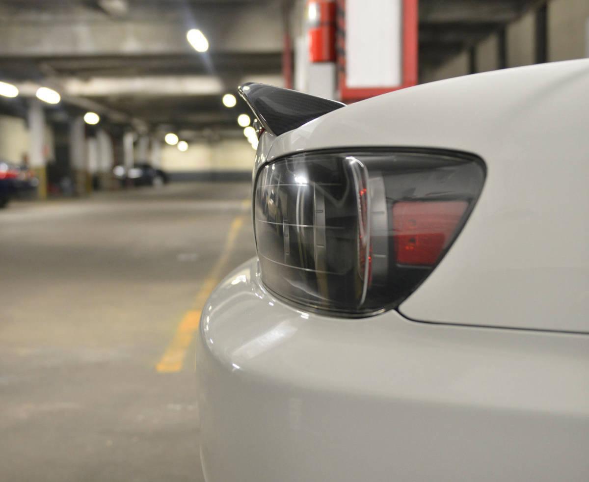 ホンダ S2000 AP1 AP2 2000-2009 リアルカーボン+純正塗装色 リアトランクスポイラー OE 純正色番:NH-578 タフタホワイト NH578_画像4