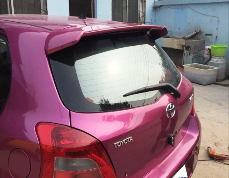 トヨタ ヴィッツ 2代目 KSP SCP NCP9# 型 05-10 塗装済 リアルーフスポイラー ABS製 MUGAN 無限 リアウィング エンドスポイラー 純正色