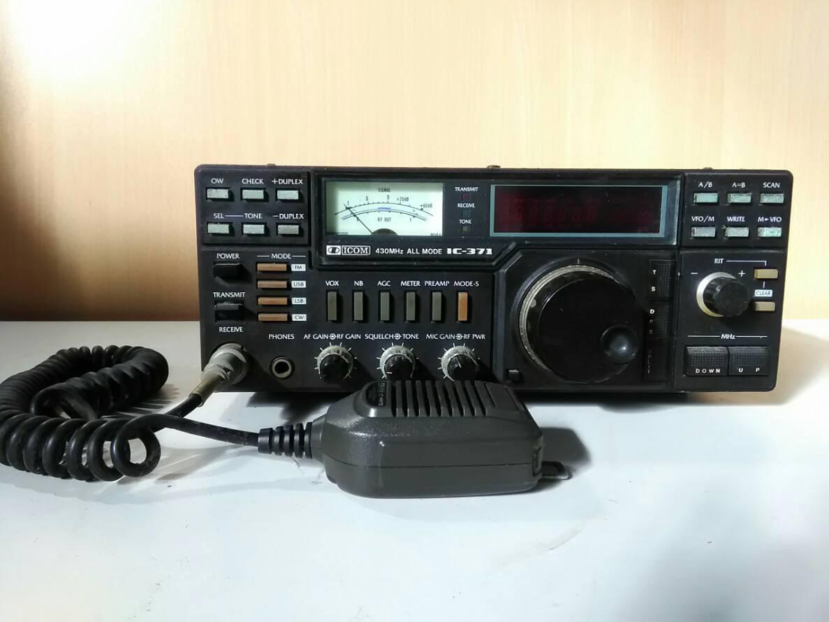 ( 96 ) アイコム ICOM IC-371 UHF トランシーバー IC-HM12 コンデンサー マイクロフォン_画像1