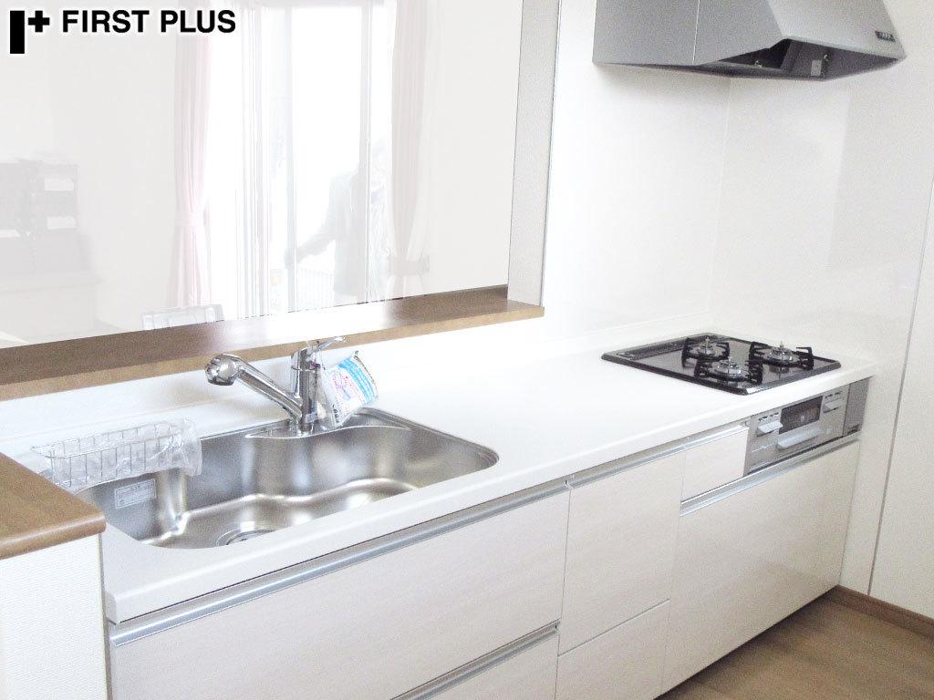 N0382【展示未使用品】ファーストクラス 高級システムキッチン/ビルトインコンロ・レンジ