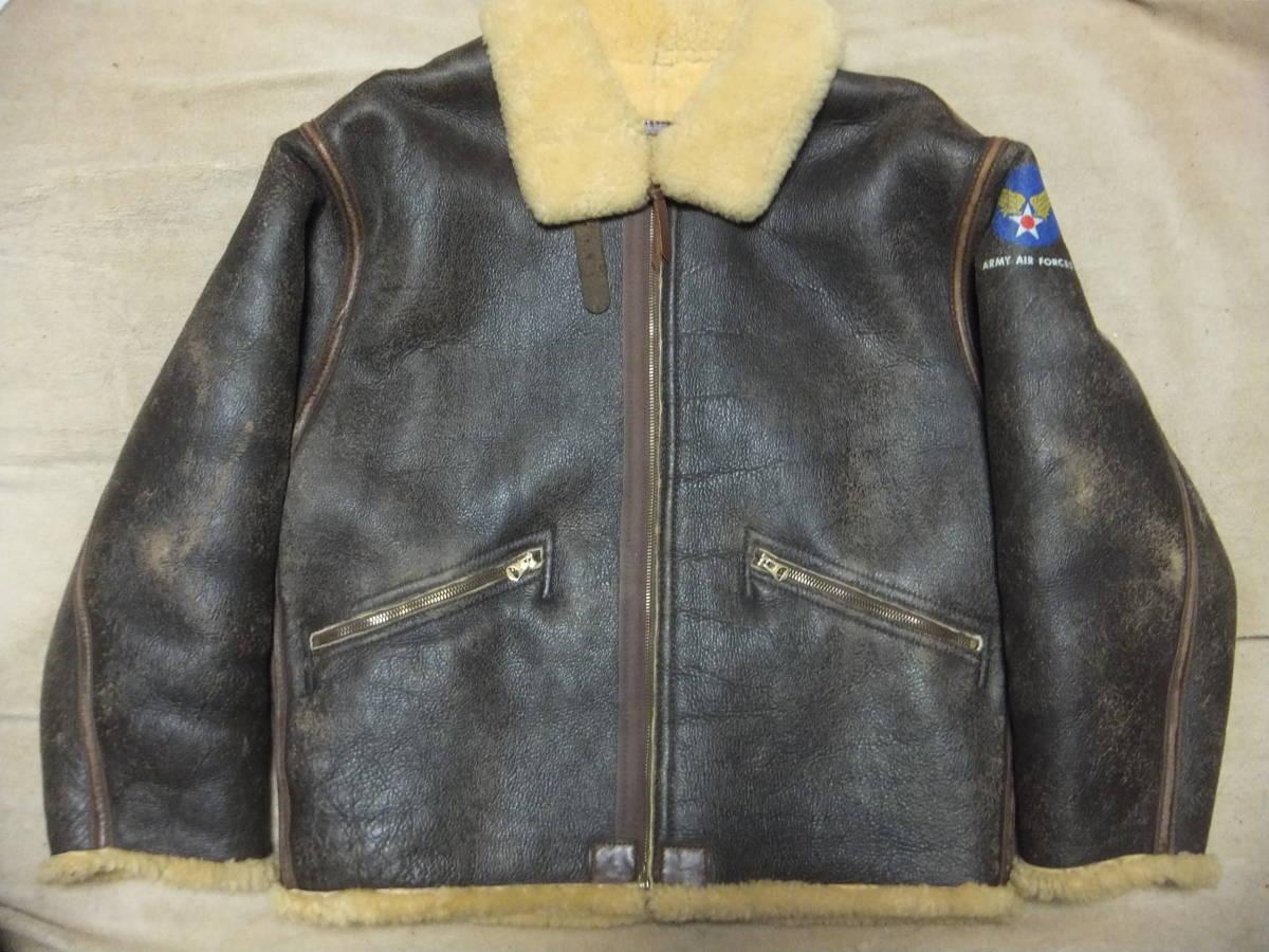 旧リアルマッコイズ D-1 フライトジャケット Sサイズ ムートン 初期型 ニュージーランド製 中古美品_画像1
