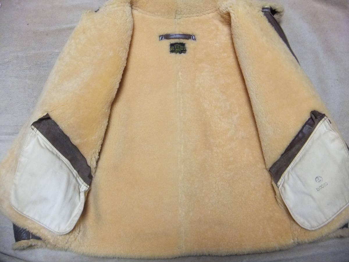 旧リアルマッコイズ D-1 フライトジャケット Sサイズ ムートン 初期型 ニュージーランド製 中古美品_ライニングきれいです