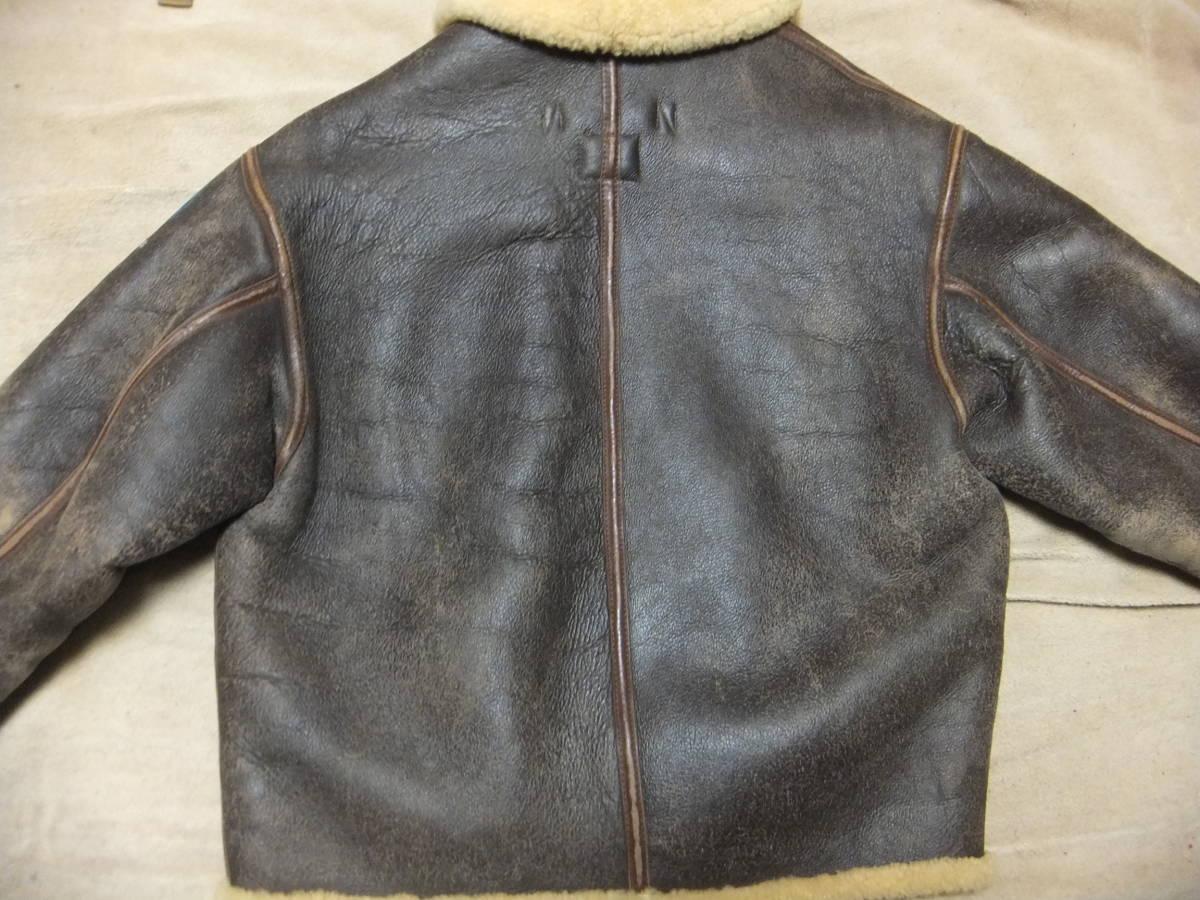 旧リアルマッコイズ D-1 フライトジャケット Sサイズ ムートン 初期型 ニュージーランド製 中古美品_画像4