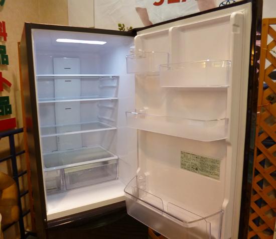 札幌限定 HITACHI 日立 3ドア ノンフロン冷凍冷蔵庫 315L R-K320HV(TD) ダークブラウン 自動製氷 2017年製 清田区_画像2