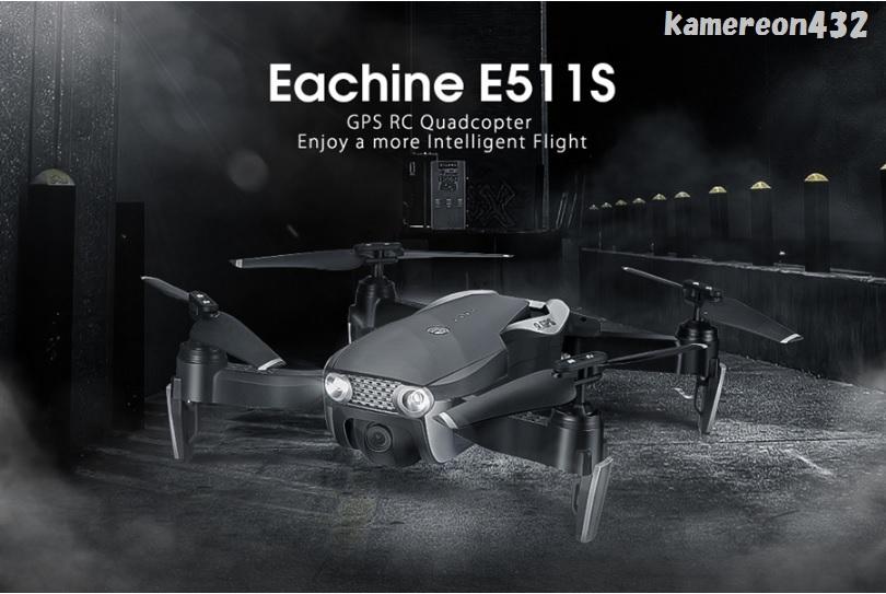 [Eachine E511S] GPS WiFi FPV 720P HDカメラ 最大16分間飛行 RC クアッドコプター 折り畳み式 RTF ドローン