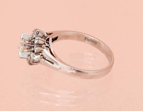 ダイヤモンド指輪 0.47ct 指輪 PT900 12サイズ 5.2g 中古 美品 【即決】_画像3