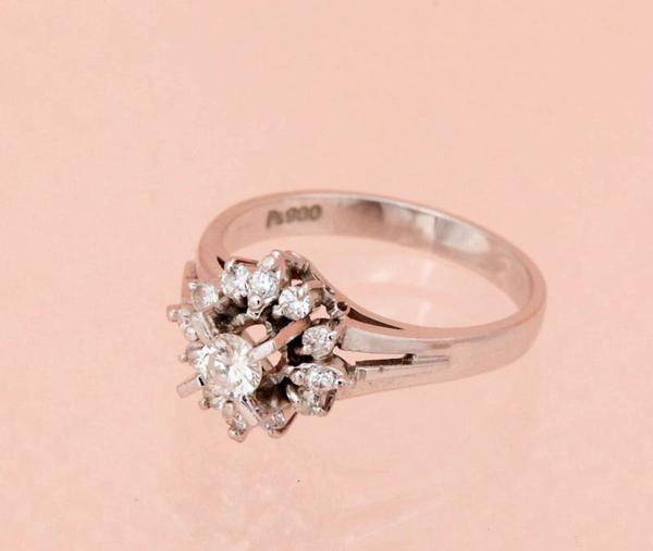ダイヤモンド指輪 0.47ct 指輪 PT900 12サイズ 5.2g 中古 美品 【即決】_画像2