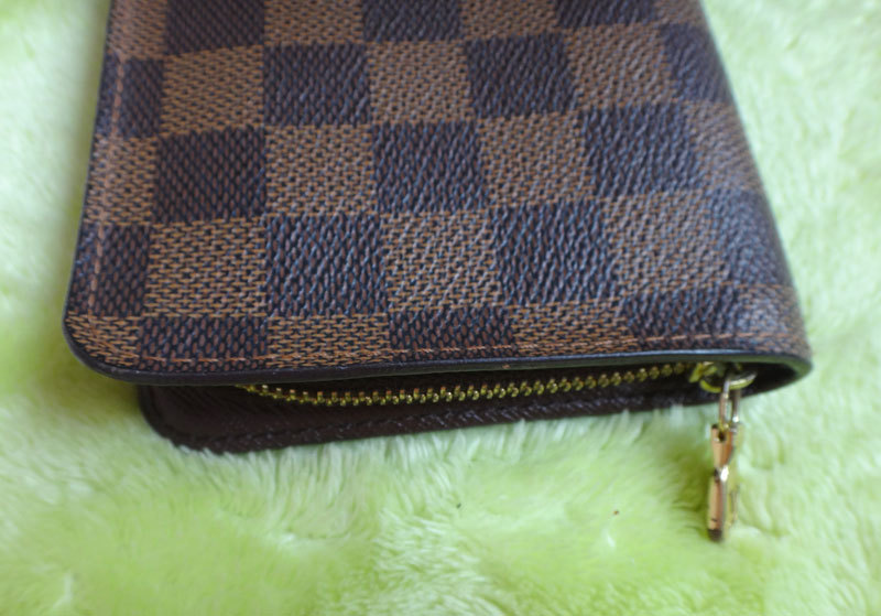 Louis Vuitton ルイヴィトン 本物 ダミエ 長財布 中古【即決】_画像5