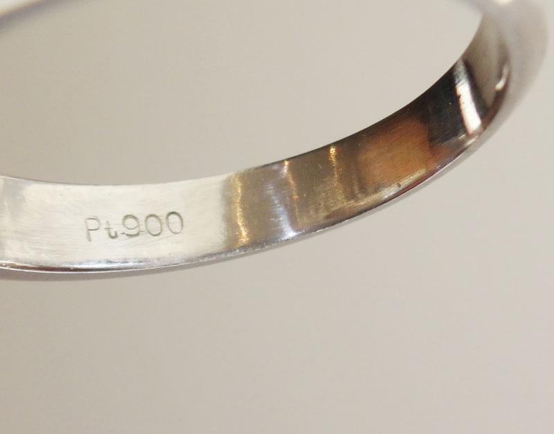 プラチナ パールリング レディース 900 約10.2mm ダイヤ 0.53ct 12号【中古】【即決】 t-001_画像5