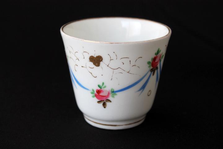 Summer Sale !■ 可愛いバラとリボン、手描きのアンティーク、コーヒーカップ&ソーサー/Sale ■_画像6