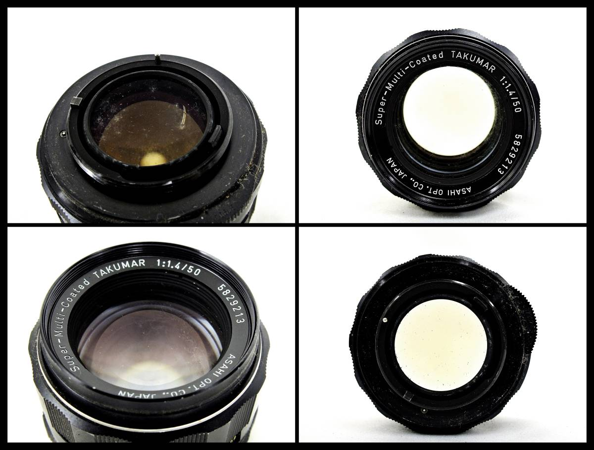 ASAHI PENTAX SPOTMATIC 一眼レフカメラ / Super Multi Coated TAKUMAR F1.4 50mm / F3.5 135mm 等 レンズ付き ジャンク 大ReB21 1208 5_画像5
