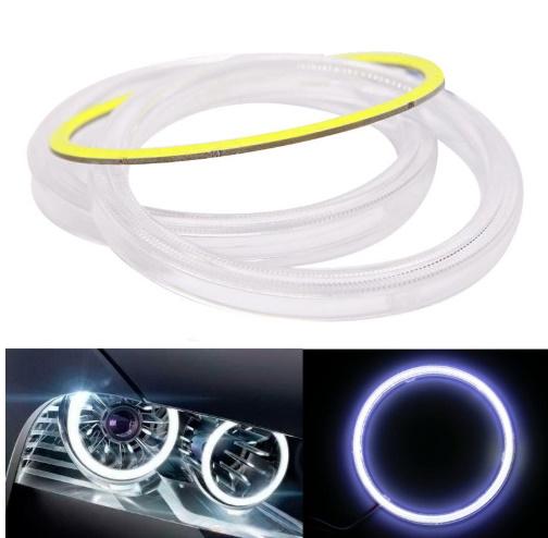 m218 車 天使 目 Led COB ハローリング Led ヘッドライト DRL デイタイム ランニングライト用 自動 多機能 高品質 1円 _画像4