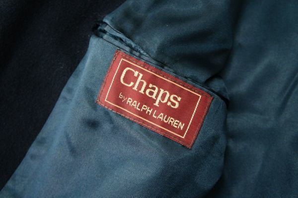 USA製 美シルエット CHAPS -RALPH LAUREN -王道アメリカントラディッショナル*ラルフローレン*メルトン*チェスターコート/カシミア/ウール_画像9