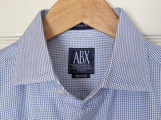 超美品 輸入品 ARBATAX アルバタックス ABXエービーエックス 綿100% 白紺チェック柄_画像3