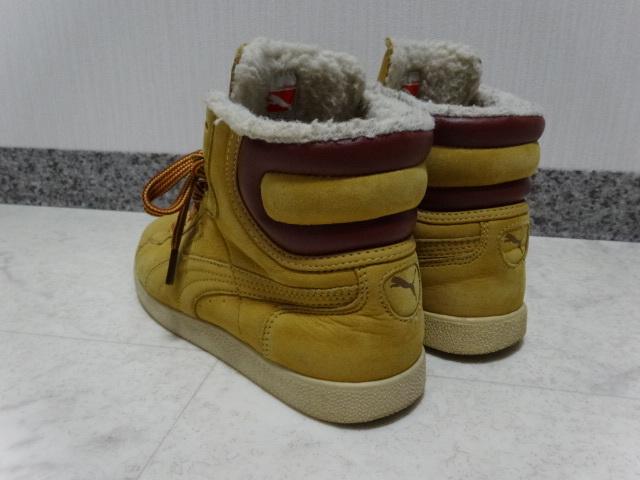■■ PUMA プーマ FIRST ROUND lifestyle なめしレザー ボア ハイカット スニーカー シューズ ブーツ ショートブーツ 靴 36 23.0cm Mサイズ_画像3