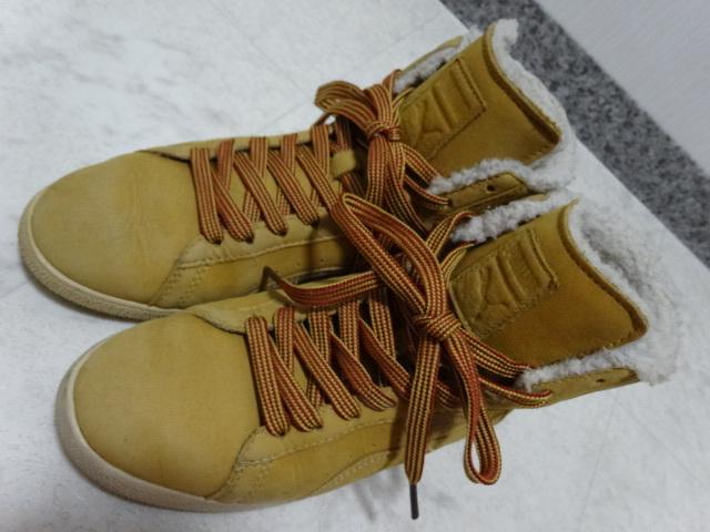 ■■ PUMA プーマ FIRST ROUND lifestyle なめしレザー ボア ハイカット スニーカー シューズ ブーツ ショートブーツ 靴 36 23.0cm Mサイズ_画像7