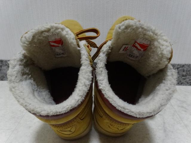 ■■ PUMA プーマ FIRST ROUND lifestyle なめしレザー ボア ハイカット スニーカー シューズ ブーツ ショートブーツ 靴 36 23.0cm Mサイズ_画像8