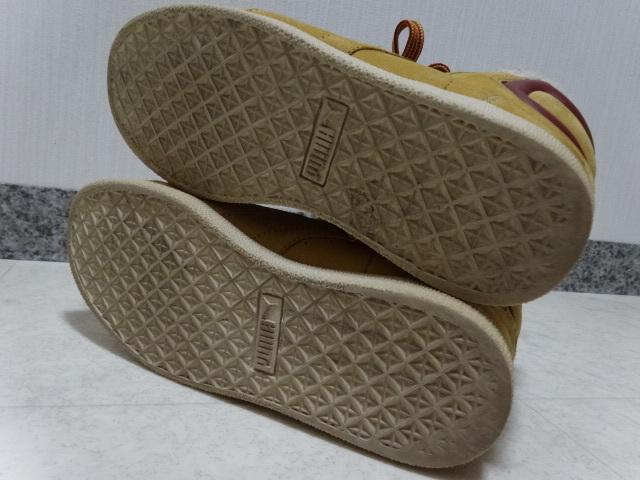 ■■ PUMA プーマ FIRST ROUND lifestyle なめしレザー ボア ハイカット スニーカー シューズ ブーツ ショートブーツ 靴 36 23.0cm Mサイズ_画像10
