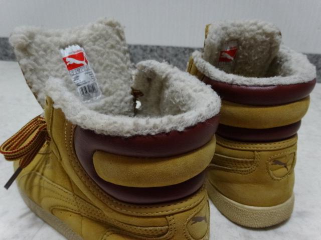 ■■ PUMA プーマ FIRST ROUND lifestyle なめしレザー ボア ハイカット スニーカー シューズ ブーツ ショートブーツ 靴 36 23.0cm Mサイズ_画像6