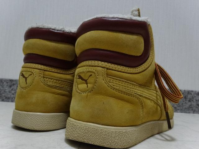 ■■ PUMA プーマ FIRST ROUND lifestyle なめしレザー ボア ハイカット スニーカー シューズ ブーツ ショートブーツ 靴 36 23.0cm Mサイズ_画像5