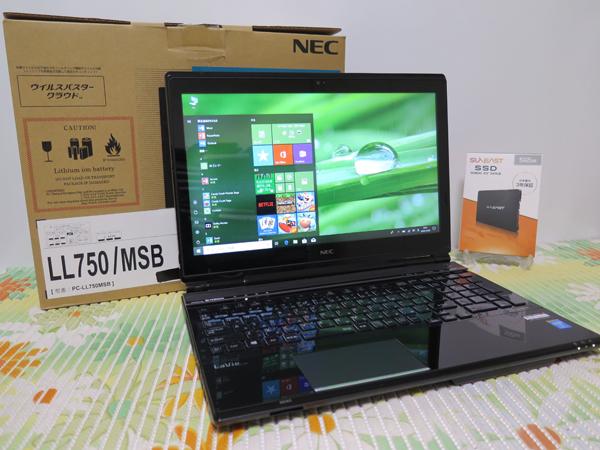 タッチ式 LL750/M【高速Core i7(Haswell)★爆速新SSD512GB】NEC ブラック 最新Win10 ★