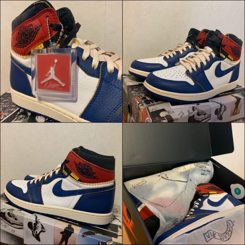 28.5cm us10.5 Union LA x Nike Air Jordan 1 Retro High NRG / blue toe un og 国内正規品 送料無料