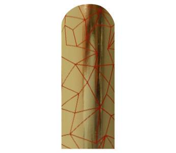 BL046 84%OFF ブリックス ネイルシール ゴールド/Rクラック Blixz 人気 セルフ ネイルアート 爪に優しい ゴージャス アウトレットセール_画像1