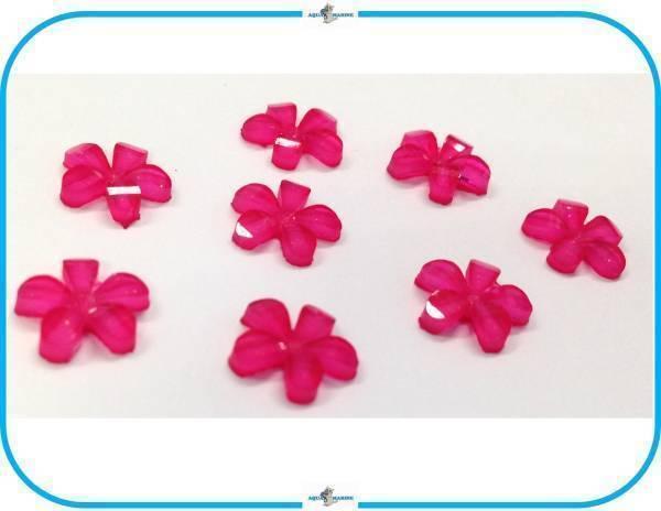 E148 DIY デコレーション パーツ フラワー ⑤ピンク 8個セット 10mm ハンドメイド 手芸 材料 ラメ入 お花 スクラップブック wedding 結婚_画像2