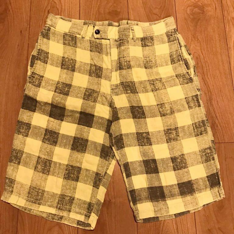 Hollywood Ranch Market gai Gin meido block check shorts size2
