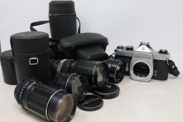 ペンタックス/PENTAX ボディ SPOTMATIC SP / レンズ4本 Super-Takumar 1:1.8/55 / 1:3.5/135 他 (B9831)