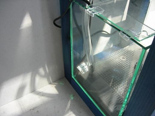 30cmキューブ オーバーフロー水槽 上下ダブルタンクタイプ 水槽台 コバルトブルー(海水館 試験作成品です) _画像4