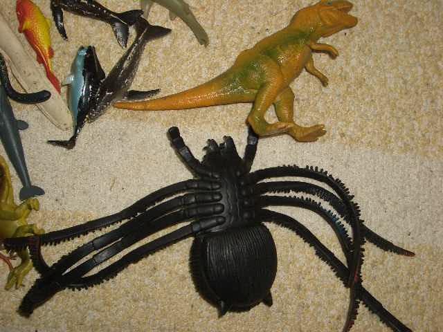 1円スタート[ 30匹セット 蜘蛛 フィギュア ] 虫 くも クモ 人形 模型 シリコン 昆虫 /146