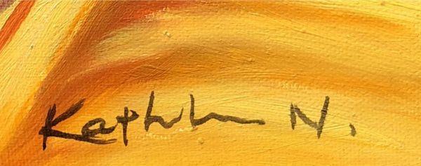 油絵 人物画『オンリーワン』Kathleen.N作 肉筆1点物 女性 ヌード 裸婦 セクシー 美女 着物 J10-2-AK1550_画像5