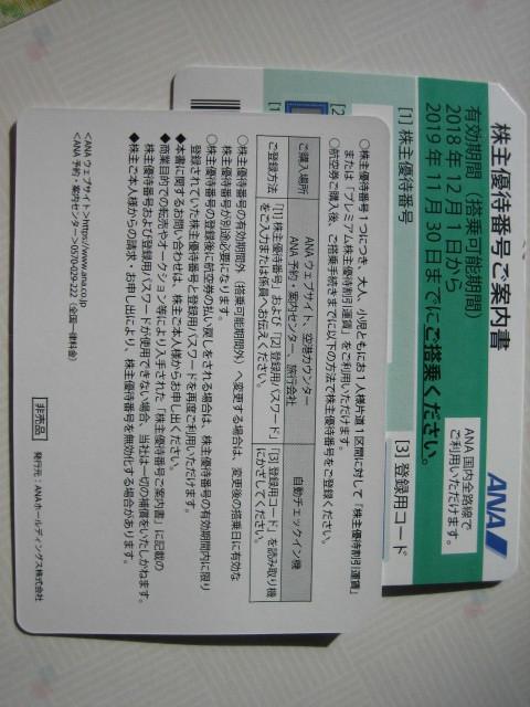 全日空【ANA】株主優待券(50%割引)★送料込み★2枚
