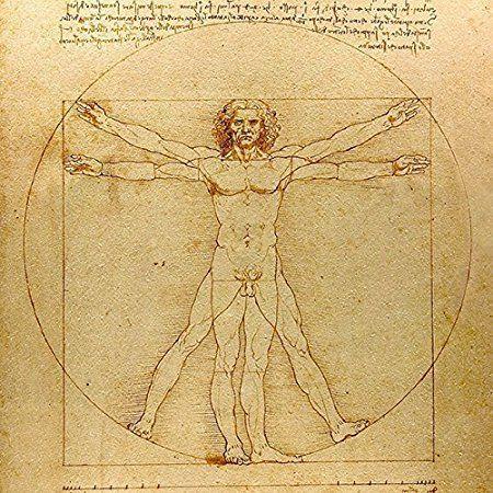 レオナルド・ダ・ヴィンチ『ウィトルウィウス的人体図』木枠付きフォトタイル_画像2